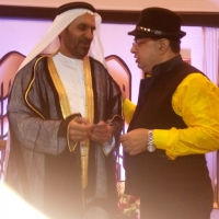 H.E. SAED MOHAMED ALMHEIRI UAE High Commissioner with Dr.Sanjay Arora
