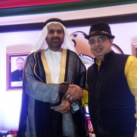 H.E. SAED MOHAMED ALMHEIRI UAE High Commissioner with Dr. Sanjay Arora